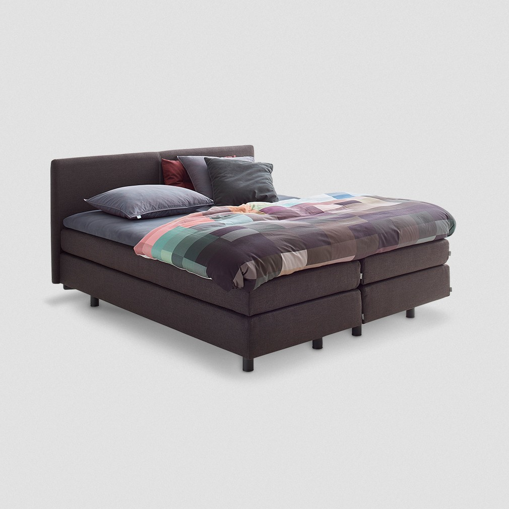 auping boxspring vlak comfort topper antraciet. Black Bedroom Furniture Sets. Home Design Ideas