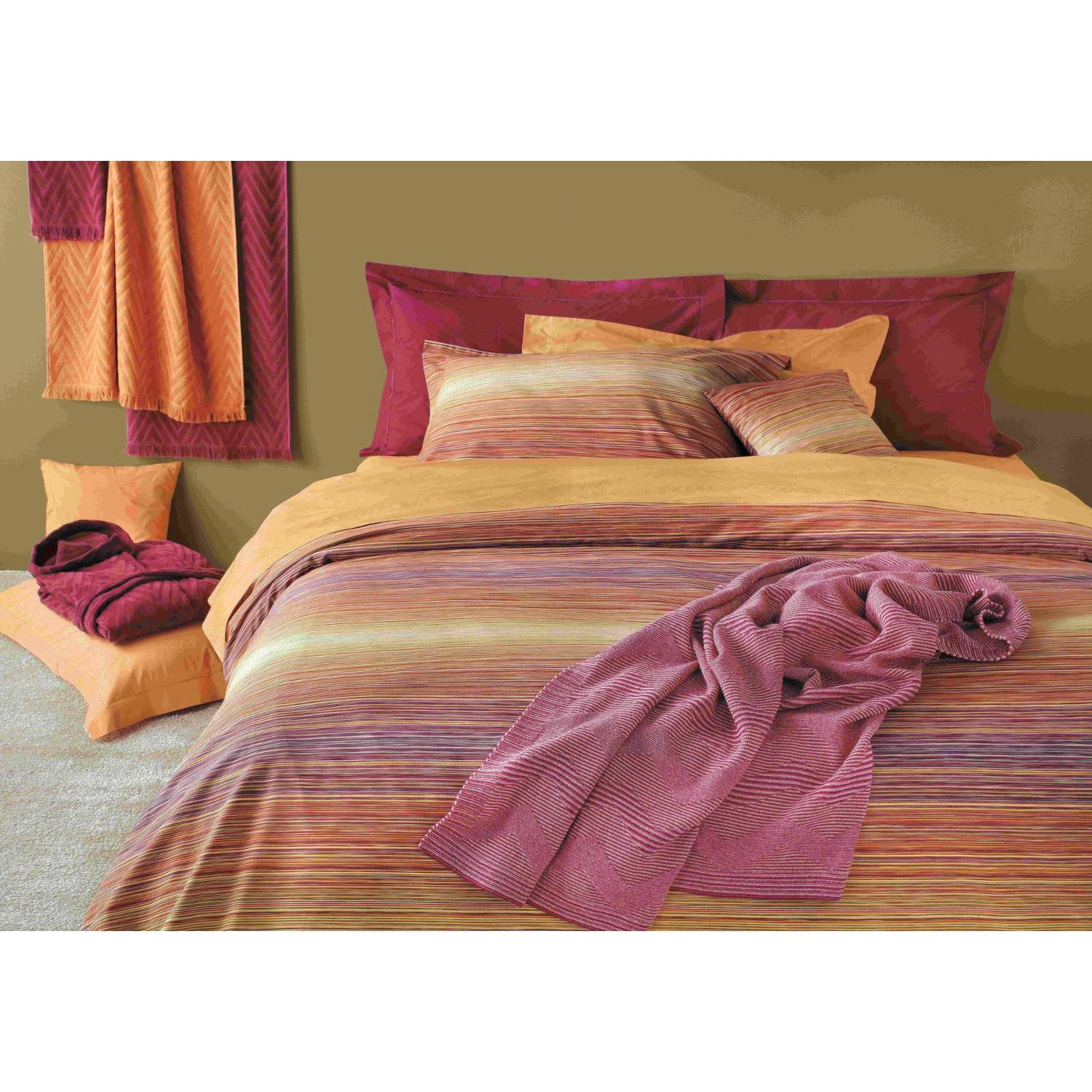 missoni jill color 156 striped duvet cover sheets