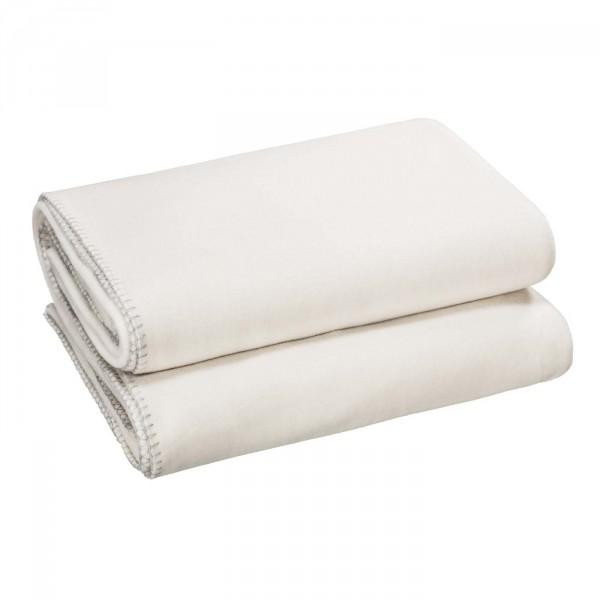 Zoeppritz Plaid Soft-Fleece, Wit
