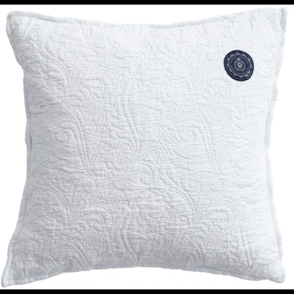 Grand Design Sierkussen Floral Quilt, White