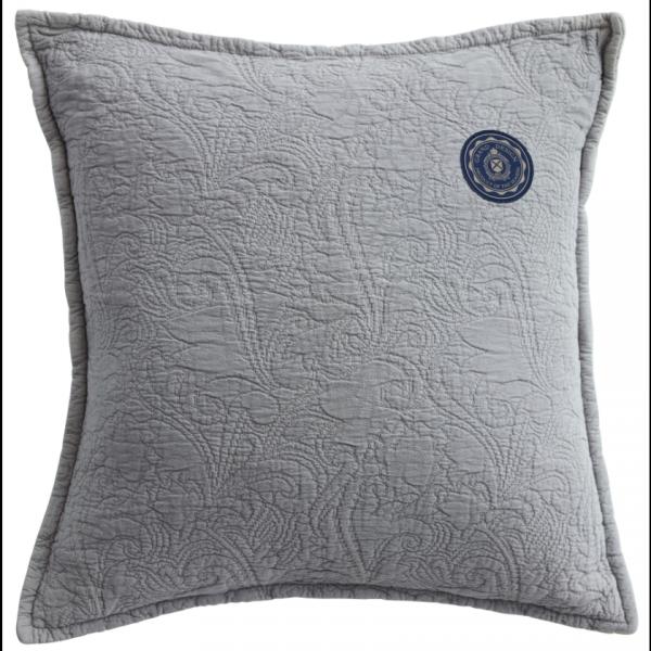 Grand Design Sierkussen Floral Quilt, Grey