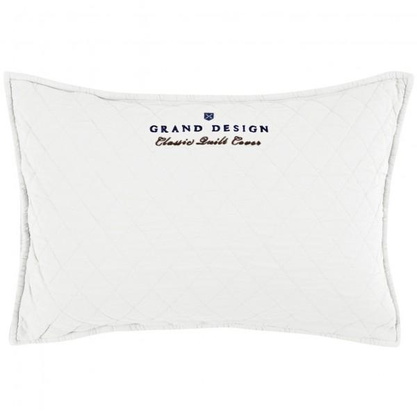 Grand Design Sierkussen Classic Quilt, White