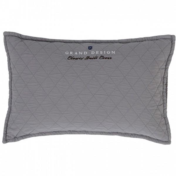 Grand Design Sierkussen Classic Quilt, Grey