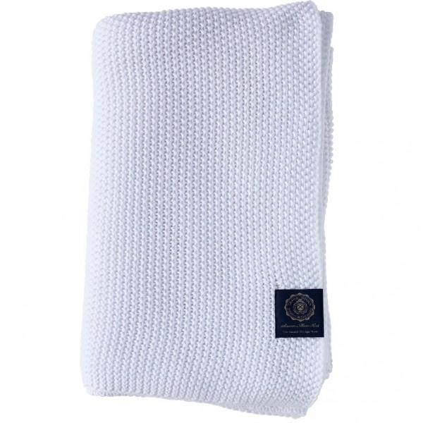 Grand Design Plaid Moss Knit, White