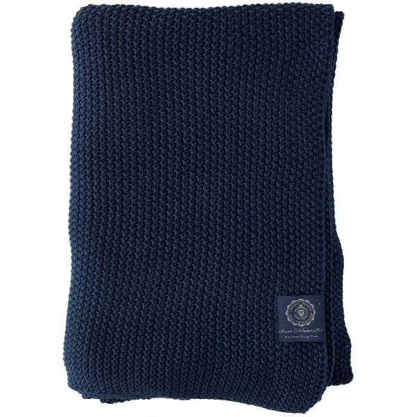 Grand Design Plaid Moss Knit, Navy