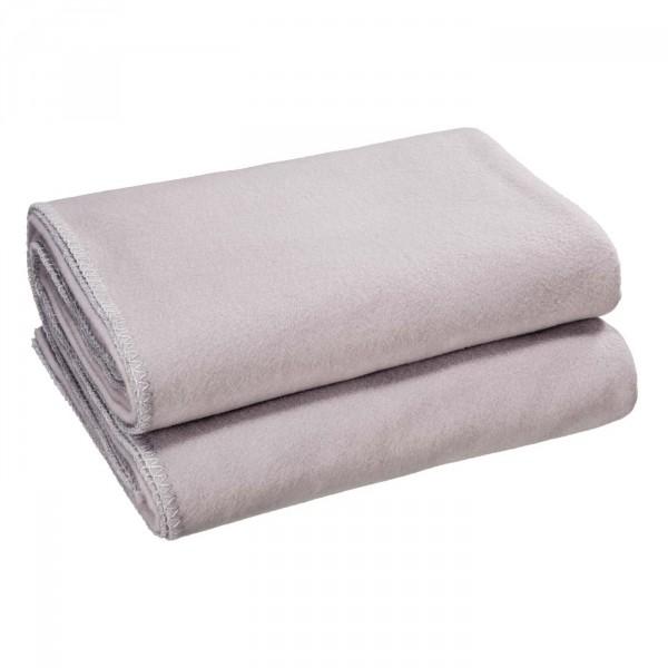 Zoeppritz Plaid Soft-Fleece, Licht Grijs