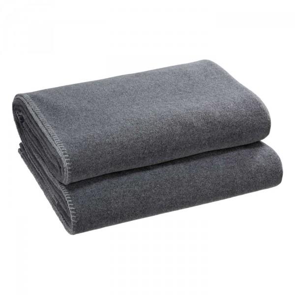 Zoeppritz Plaid Soft-Fleece, Titanium