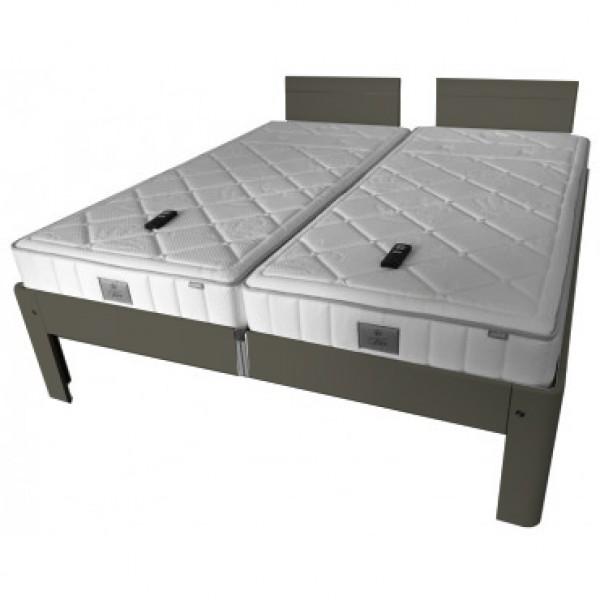 Auping Bed Auronde 1500 Deelbaar, Warm Grey
