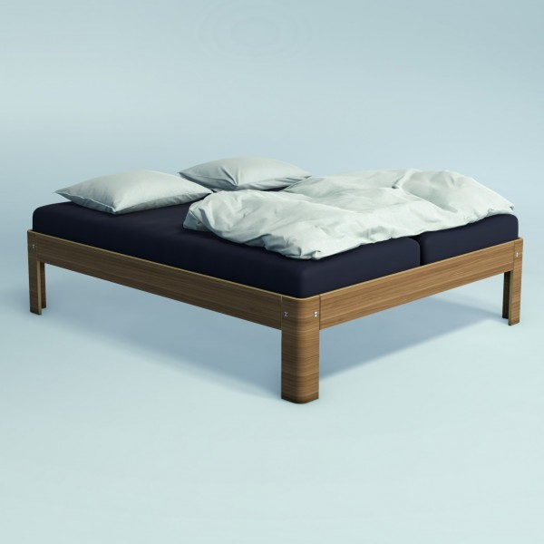 Auping Bed Auronde 2000, Natural Walnut