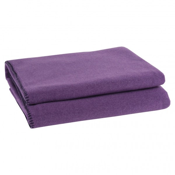 zoeppritz plaid soft fleece lila. Black Bedroom Furniture Sets. Home Design Ideas