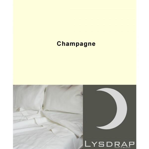 Lysdrap Dekbedovertrek Linnen, Champagne Uni