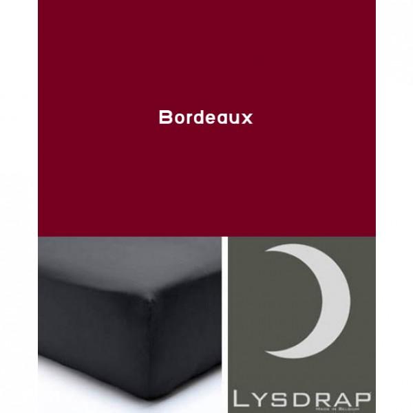 Lysdrap Hoeslaken Flanel, H:35, Bordeaux