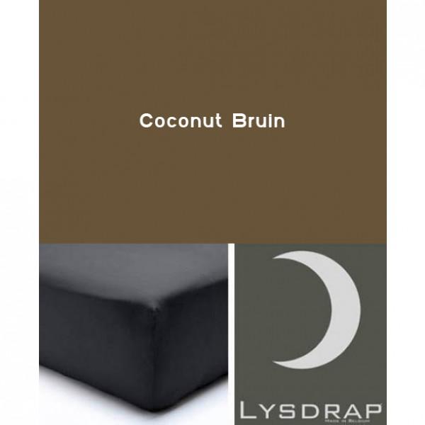 Lysdrap Hoeslaken Flanel, H:35, Coconut Bruin