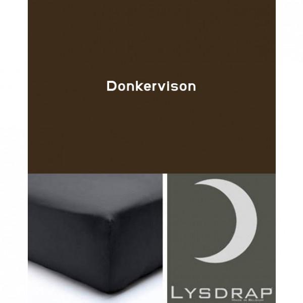 Lysdrap Hoeslaken Flanel, H:35, Donkervison