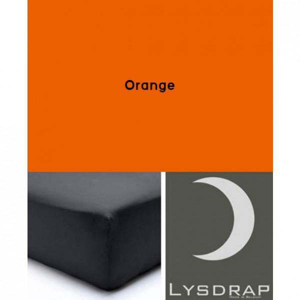 Lysdrap Hoeslaken Flanel, H:35, Orange