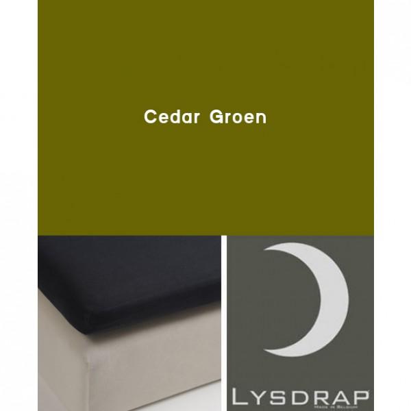 Lysdrap Topperhoeslaken Flanel, Cedar Groen