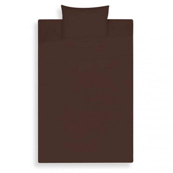 Lysdrap Dekbedovertrek Satijn, Chocoladebruin Uni