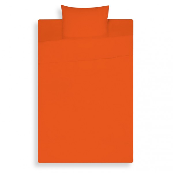 Lysdrap Dekbedovertrek Satijn, Zuiver Oranje