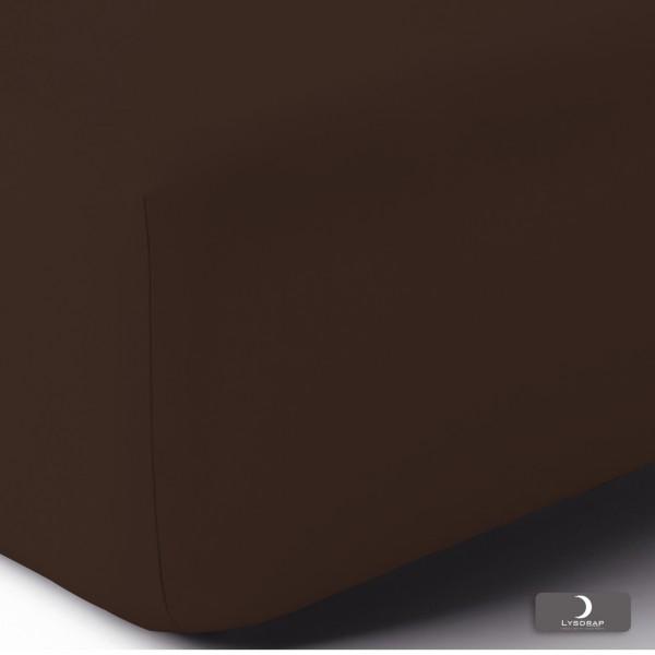 Hoeslaken Perkaal-Katoen, H:30, Chocolade