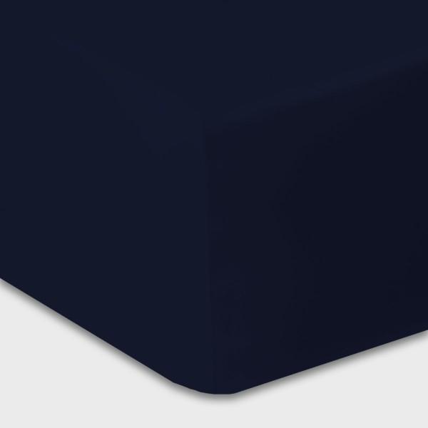Lysdrap Hoeslaken Satijn, H:30, Marineblauw