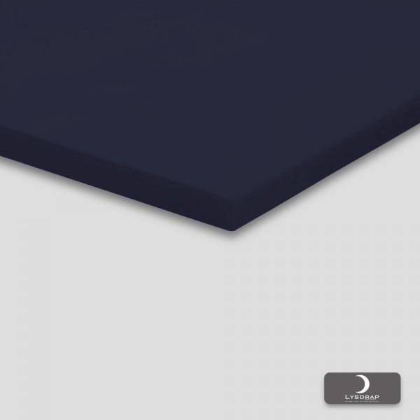 Lysdrap Topperhoeslaken Perkaal-Katoen, Dark Blue