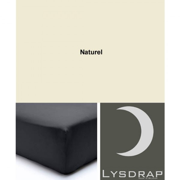 Lysdrap Hoeslaken Linnen, H:20, Naturel