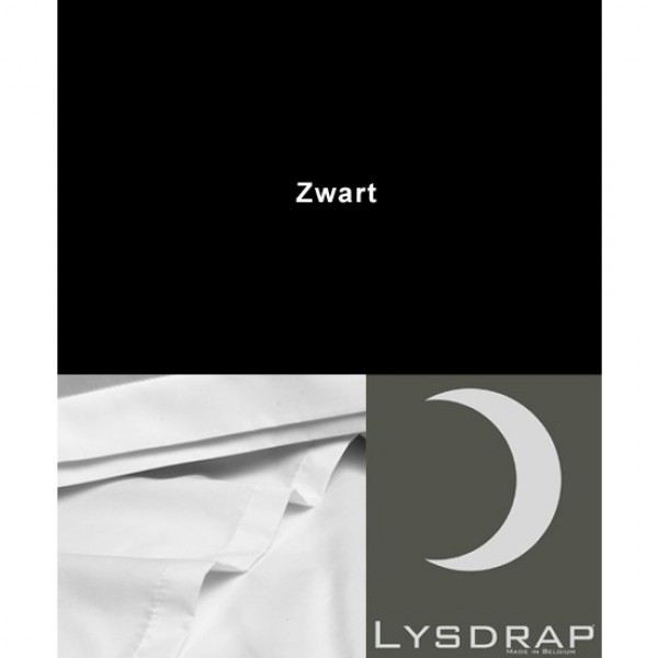 Lysdrap Lakenset Perkaal, Zwart Uni