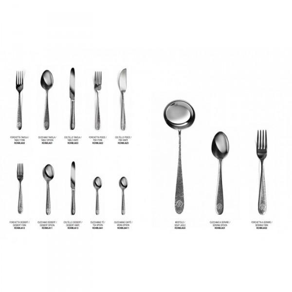 Zilveren bestekset Cavalli