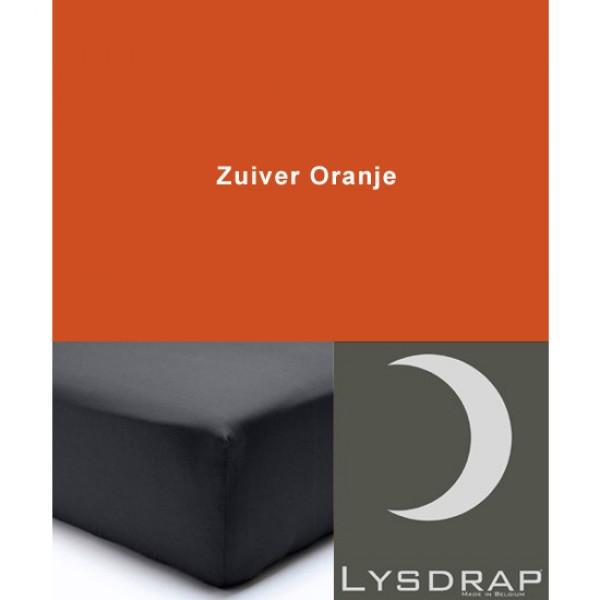Lysdrap Hoeslaken Satijn, H:25, Zuiver Oranje