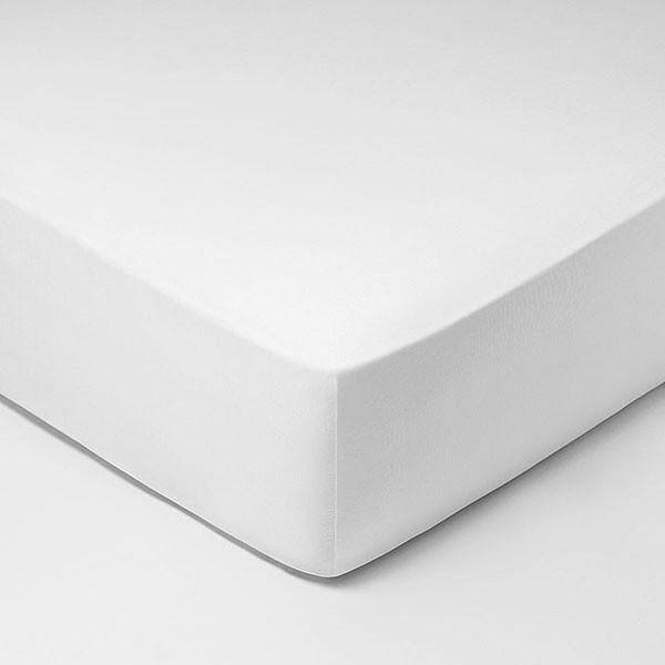 Schlossberg Tophoeslaken Satijn, Blanc