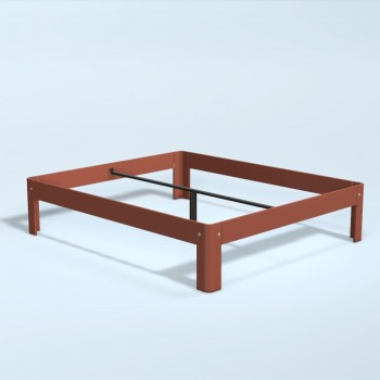 Auping Bed Auronde 2000, Dusty Red