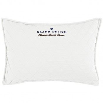 Grand Design Sierkussen Classic Quilt, White