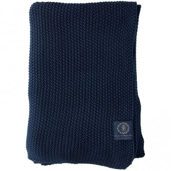 Grand Design Plaid Moss Knit, Navy