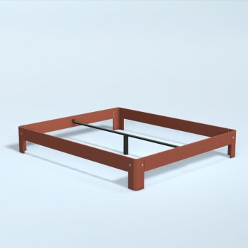 Auping Bed Auronde 1000, Dusty Red