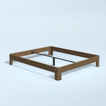 Auping Bed Auronde 1000, Natural Walnut