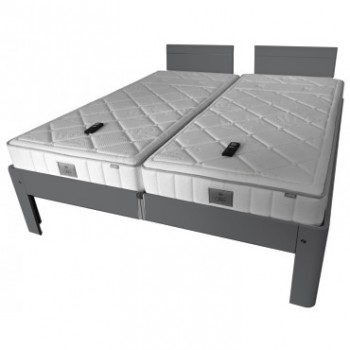 Auping Bed Auronde 2000 Deelbaar, Cool Grey