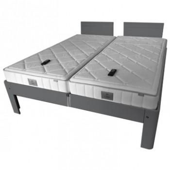 Auping Bed Auronde 1500 Deelbaar, Cool Grey