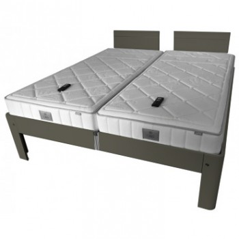 Auping Bed Auronde 1500 Deelbaar, Warm Grey