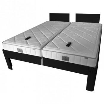 Auping Bed Auronde 1500 Deelbaar, Diep Zwart