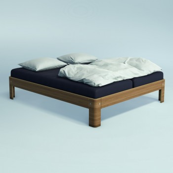 Auping Bed Auronde 1500, Natural Walnut