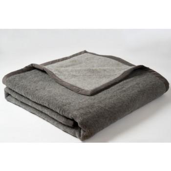 Brun de Vian-Tiran® Deken Alpaca, Gris fonce/Gris