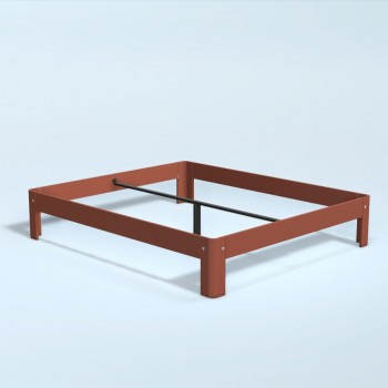 Auping Bed Auronde 1500, Dusty Red
