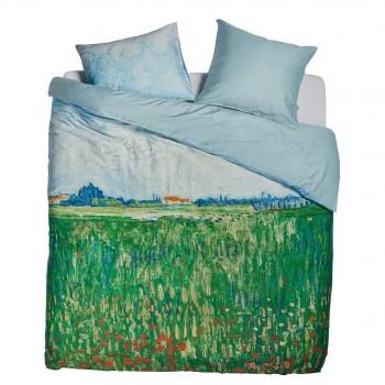 Van Gogh Dekbedovertrek Field with Poppies, Groen