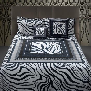 Roberto Cavalli Dekbedovertrek Frame Zebrage, Blauw