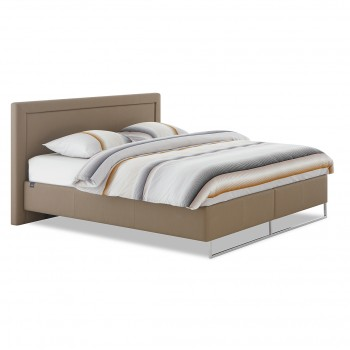Tempur Bed Relax Lederlook, Khaki