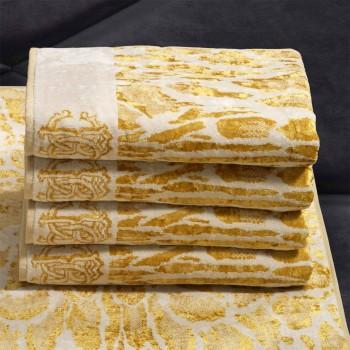 Roberto Cavalli Handdoek Linx, Gold