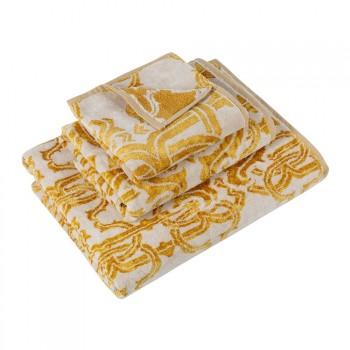 Roberto Cavalli Handdoek Logo, Gold