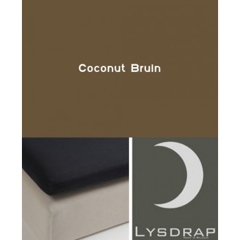 Lysdrap Topperhoeslaken Flanel, Coconut Bruin
