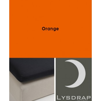 Lysdrap Topperhoeslaken Flanel, Orange