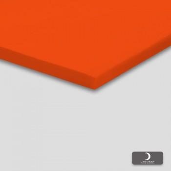 Lysdrap Topperhoeslaken Satijn, Zuiver Oranje
